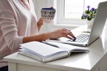 paperwork desk taxes computer