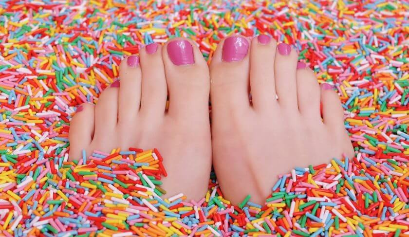 pedicure feet nails